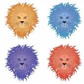 Lion Face — Stock Vector