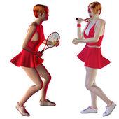 Tenistka — Stock fotografie