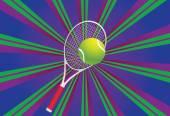 Tenis top ve raket — Stok Vektör