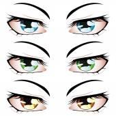 Anime Style Eyes — Stock Vector