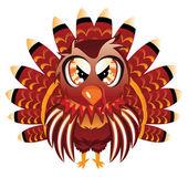 Cute Turkey Bird — Stock Vector