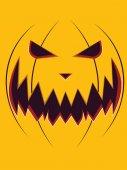 Scary Pumpkin Face — Stock Vector
