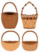 Set of Baskets — Stock Vector