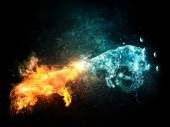 Fire and Water Goats Collide — Foto de Stock