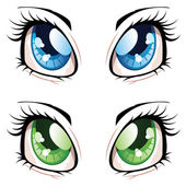 Anime-Stil-Augen — Stockvektor