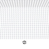 Soccer Goal with Ball — Stock Photo