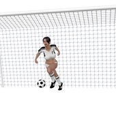 足球的女孩 — 图库照片