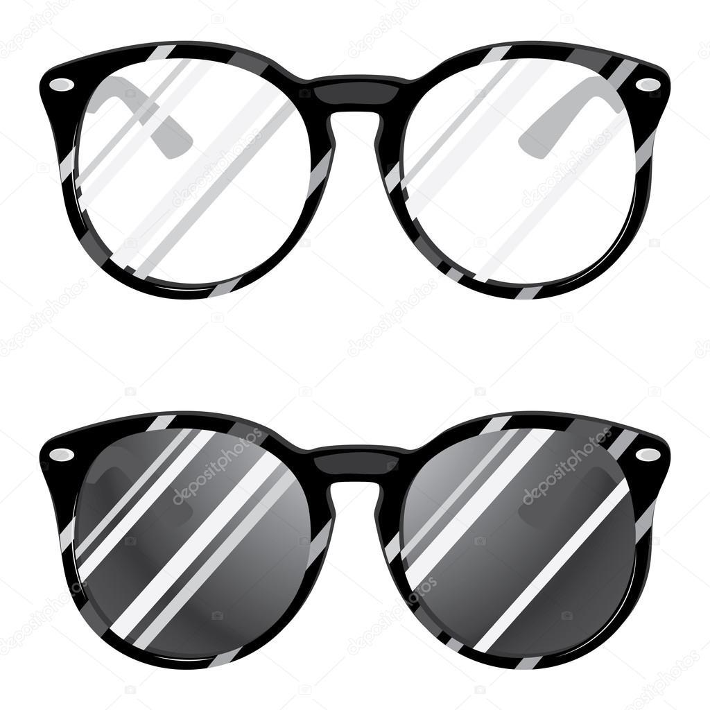 Occhiali hipster — vettoriali stock artshock