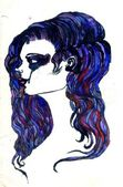 Watercolor Portrait — Stock Photo