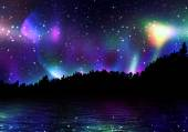 Colorful Aurora Borealis — Stock Photo