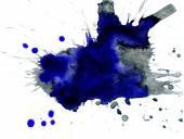 Blue Ink Blot — Stock Photo