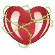 Red Heart with Thorns — Stock Vector #65950449