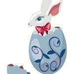Bunny Inside a Cracked Egg — Stock Vector #67827901