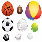Egg Shaped Sport Balls — Stock Vector
