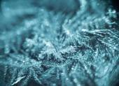 Supermacro of Frost Pattern — Stock Photo