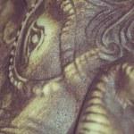 Retro Netsuke Elephant — Stock Photo #70723463