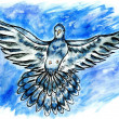 Dove Sketch — Stock Photo #71314509