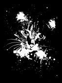 Grunge Cat — Stock Vector