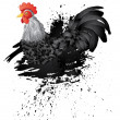 Grunge Rooster — Stock Vector #77281812