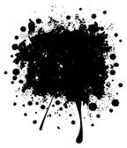 Grunge Black Splatter — Stock Vector