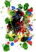 Multi Colored Acrylics Texture — Stock Photo