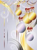 Gold and White Xmas Balls — Stock Vector