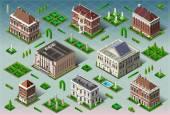 Isometric Historic American Building — Stock Vector