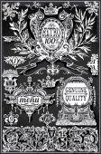 Etykiety retro starodawny tablica — Wektor stockowy