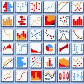 Stats Element Set — Stock Vector