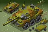 Isometric Tank Two Version — Wektor stockowy
