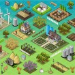 Isometric Farm Set Tiles — Wektor stockowy  #61485017