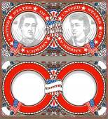 American Vintage Patriot Wedding Invite — Stock Vector