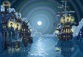 Adventure Island - Pirates Cove Bay — Stock Vector