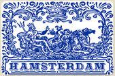 Telhas tradicionais Azulejos Amsterdam — Vetor de Stock
