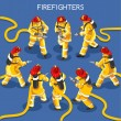 Постер, плакат: Firefighters 01 People Isometric