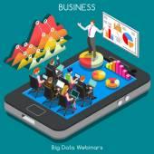 Webinars 02 Business Isometric — Stock Vector