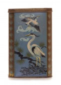 Rusty heron birds themed tin — Stock Photo