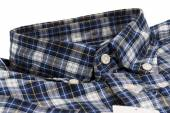 Blue checked pattern shirt — Stock Photo