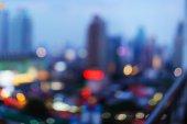 Bangkok cityscape at twilight time — Stock Photo