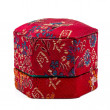 Small Chinese hexagonal form box, covered with red silk — Stock Photo #75665865