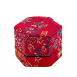 Small Chinese hexagonal form box, covered with red silk — Stock Photo #75665941