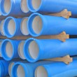 Concrete pipes for transporting  sewerage — Stock Photo #52514507