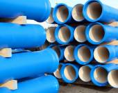 Pipes for transporting water and sewerage — Stock Photo
