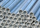 Iron pipes for the transport of electrical cables — Stock Photo
