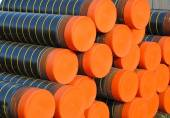 Plastic pipes and conduits for transporting gas — Stock Photo