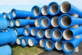 Pipes for transporting water and sewerage — Stock fotografie