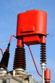 Change device a ratio current transformer for high voltage — Stock Photo