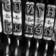 Detail of the old mechanical typewriter — Stock Photo #53799717