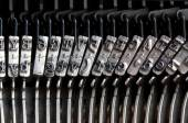 Detail of the old mechanical typewriter — Stock Photo