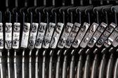 Detalhe da velha máquina de escrever mecânica — Fotografia Stock